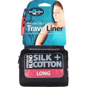 Sea to Summit Silk/Cotton Travel Liner Long Rectangular Navy Blue